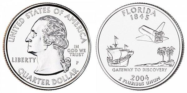 2004 P Florida State Quarter