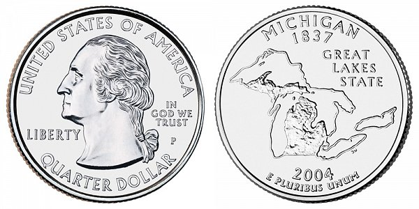 2004 P Michigan State Quarter