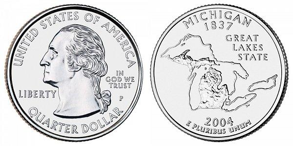 2004 P Michigan State Quarter