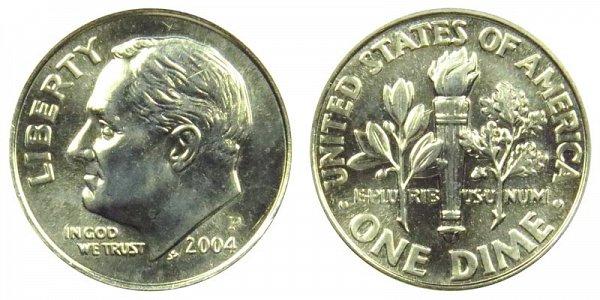 2004 P Roosevelt Dime