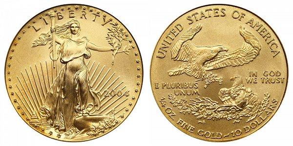 2004 Quarter Ounce American Gold Eagle - 1/4 oz Gold $10