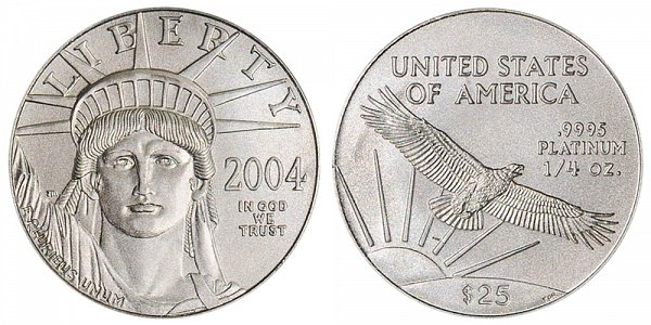 2004 Quarter Ounce American Platinum Eagle - 1/4 oz Platinum $25
