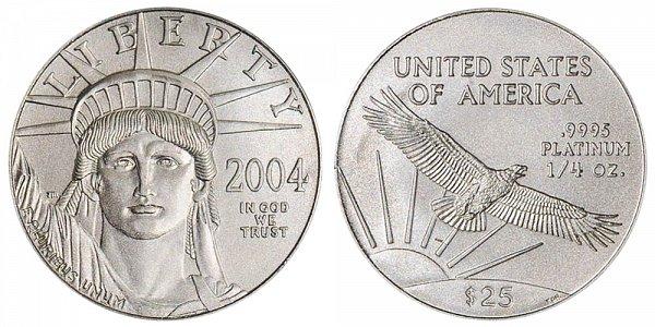 2004 Quarter Ounce American Platinum Eagle - 1/4 oz Platinum $25