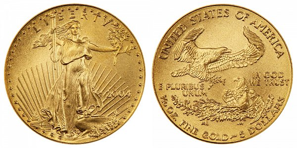 2004 Tenth Ounce American Gold Eagle - 1/10 oz Gold $5