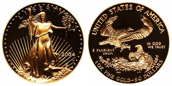 2004 W Proof One Ounce American Gold Eagle - 1 oz Gold $50