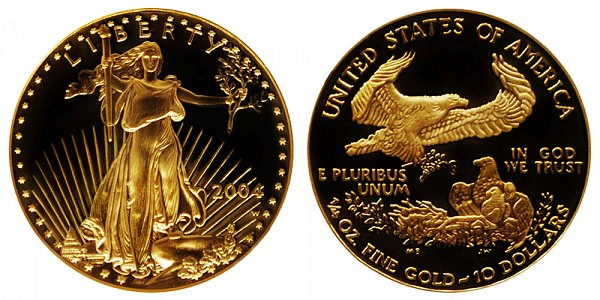 2004 W Proof Quarter Ounce American Gold Eagle - 1/4 oz Gold $10