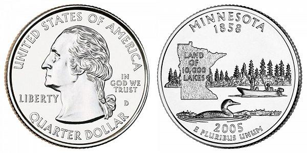 2005 D Minnesota State Quarter