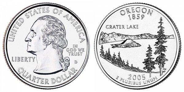 2005 D Oregon State Quarter