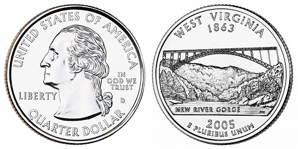 2005 D West Virginia State Quarter