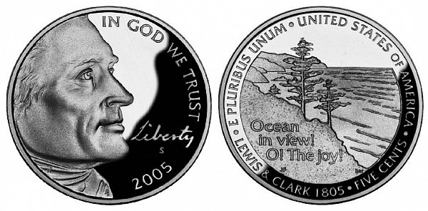2005 Jefferson Nickel - Ocean in view! O! The Joy!