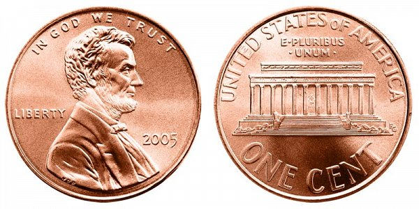2005 Lincoln Memorial Cent Penny