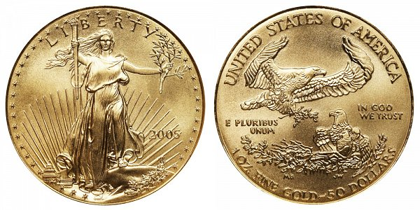 2005 One Ounce American Gold Eagle - 1 oz Gold $50