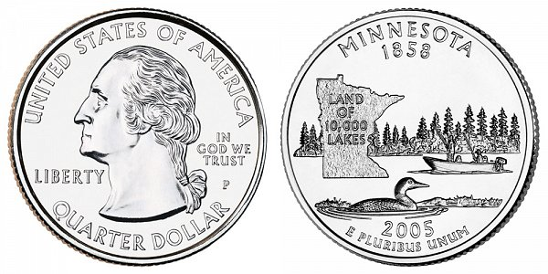 2005 P Minnesota State Quarter