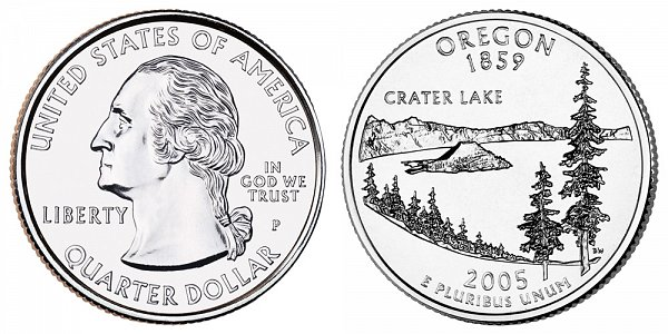 2005 P Oregon State Quarter