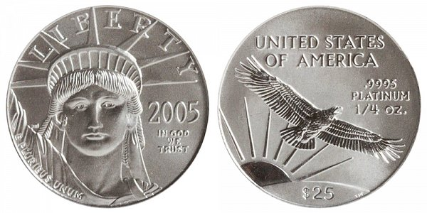 2005 Quarter Ounce American Platinum Eagle - 1/4 oz Platinum $25