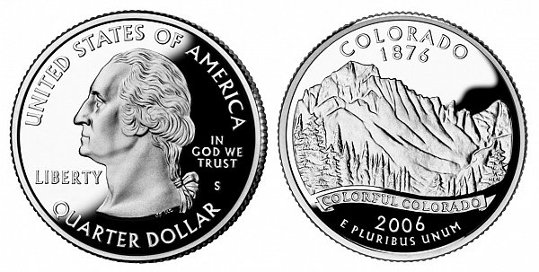 2006 S Proof Colorado State Quarter