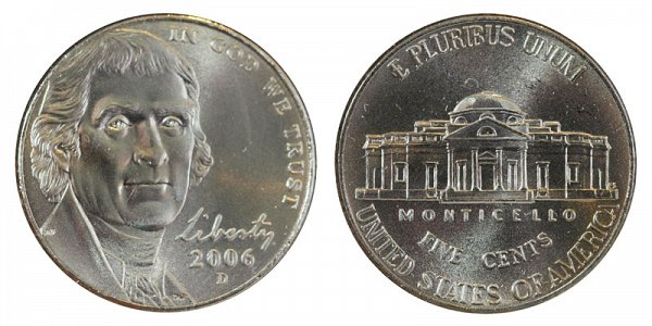 2006 D Jefferson Nickel