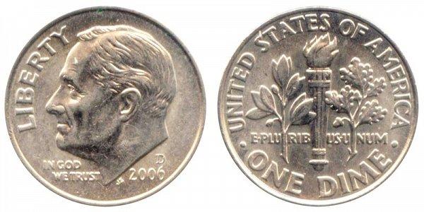 2006 D Roosevelt Dime