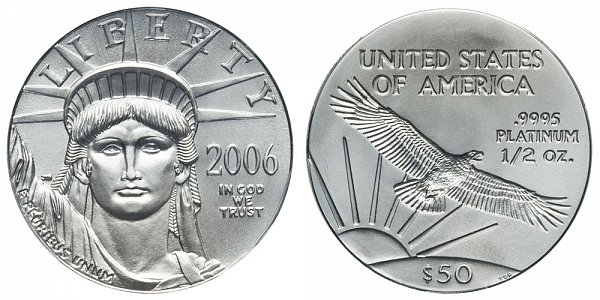 2006 Half Ounce American Platinum Eagle - 1/2 oz Platinum $50