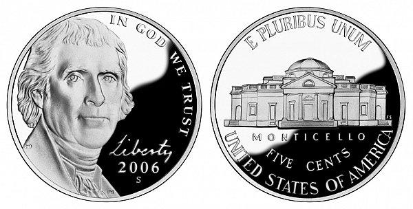 2006 - Present, New Jefferson Nickel, Return of Monticello