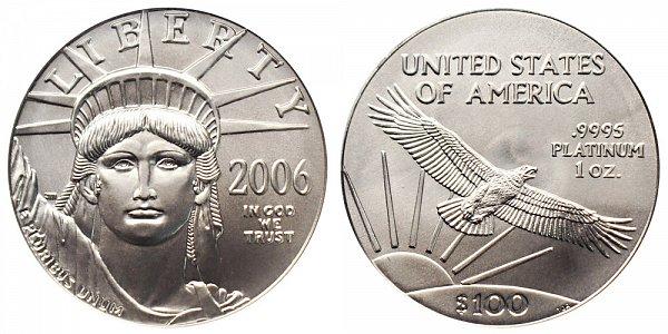 2006 One Ounce American Platinum Eagle - 1 oz Platinum $100