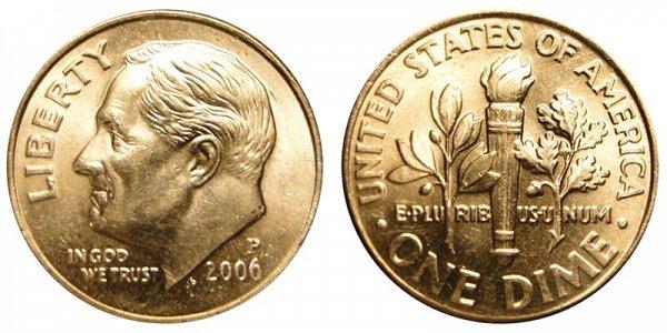 2006 P Roosevelt Dime