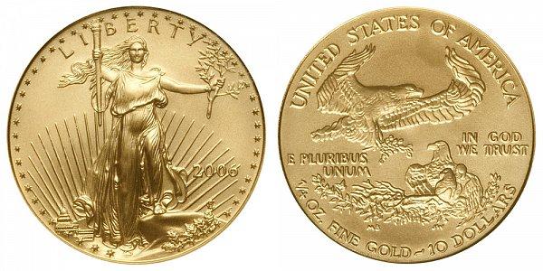 2006 Quarter Ounce American Gold Eagle - 1/4 oz Gold $10