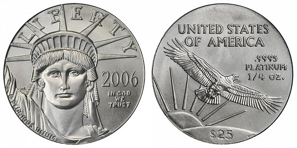 2006 Quarter Ounce American Platinum Eagle - 1/4 oz Platinum $25