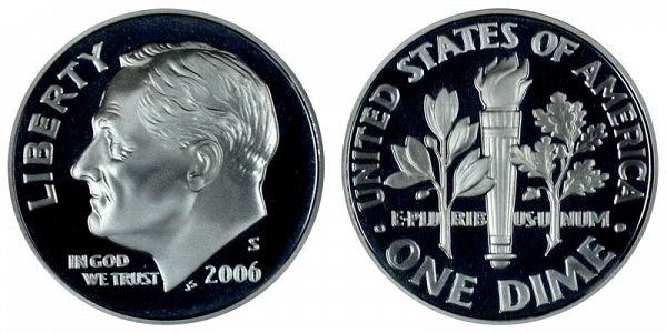 2006 S Roosevelt Dime Proof