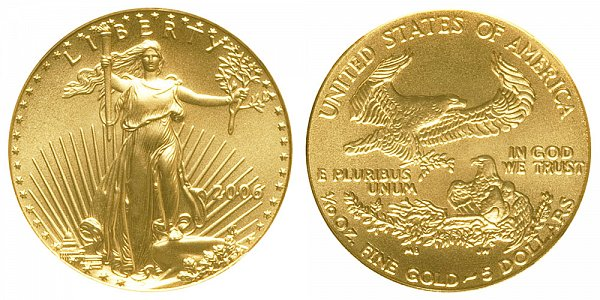 2006 Tenth Ounce American Gold Eagle - 1/10 oz Gold $5