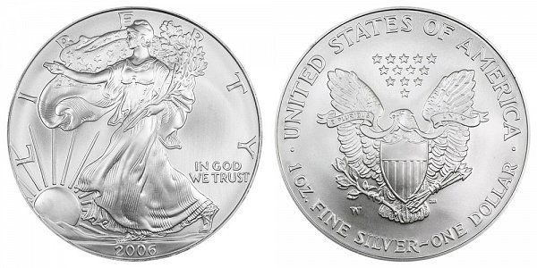 2006 W Burnished Uncirculated American Silver Eagle