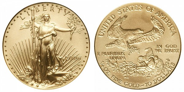 2006 W Burnished Unicirculated Quarter Ounce American Gold Eagle - 1/4 oz Gold $10