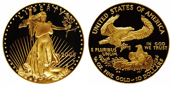 2006 W Proof Quarter Ounce American Gold Eagle - 1/4 oz Gold $10