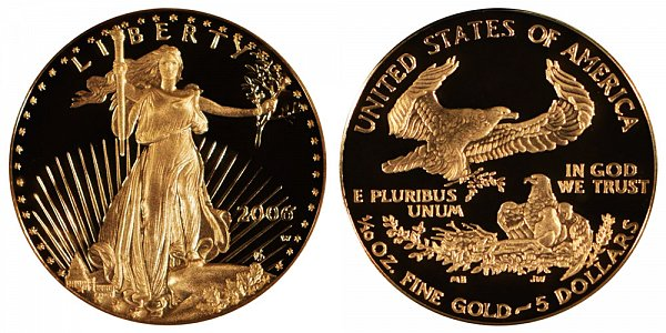 2006 W Proof Tenth Ounce American Gold Eagle - 1/10 oz Gold $5