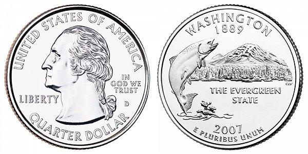 2007 D Washington State Quarter