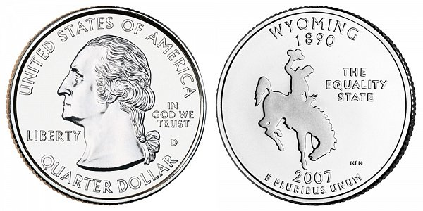 2007 D Wyoming State Quarter