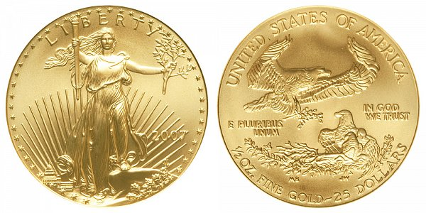 2007 Half Ounce American Gold Eagle - 1/2 oz Gold $25