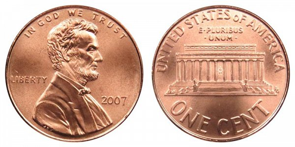 2007 Lincoln Memorial Cent Penny