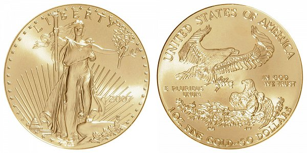 2007 One Ounce American Gold Eagle - 1 oz Gold $50