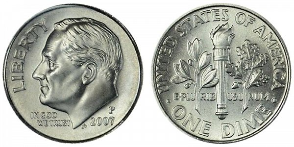 2007 P Roosevelt Dime