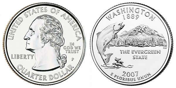 2007 P Washington State Quarter