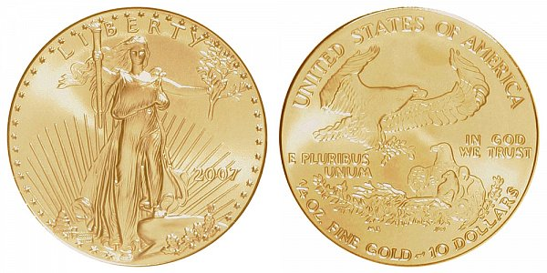 2007 Quarter Ounce American Gold Eagle - 1/4 oz Gold $10