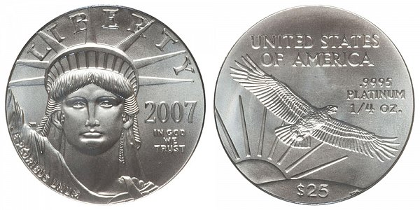 2007 Quarter Ounce American Platinum Eagle - 1/4 oz Platinum $25