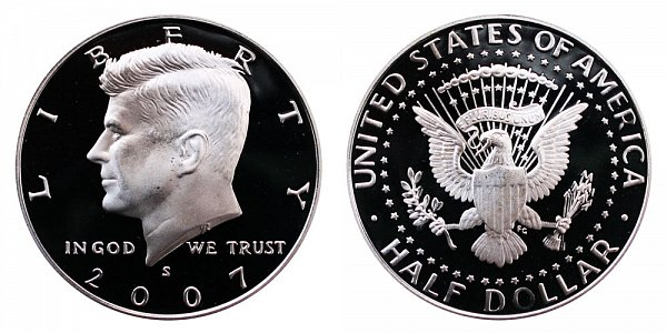 2007 S Silver Kennedy Half Dollar Proof