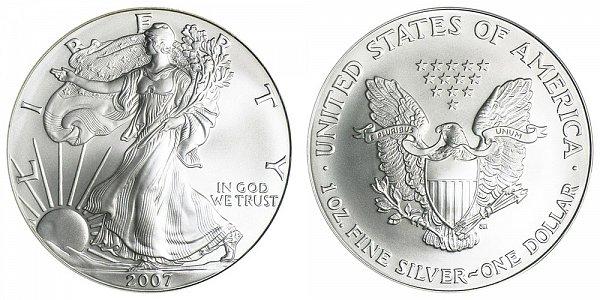 2007 Bullion American Silver Eagle