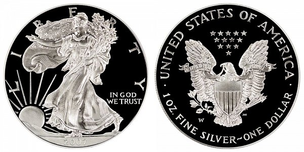 2007 W Proof American Silver Eagle