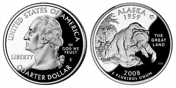 2008 S Proof Alaska State Quarter