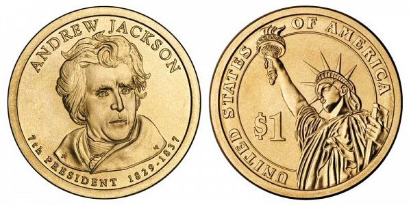 2008 D Andrew Jackson Presidential Dollar Coin