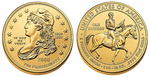 2008 Andrew Jacksons Liberty First Spouse Gold Coin