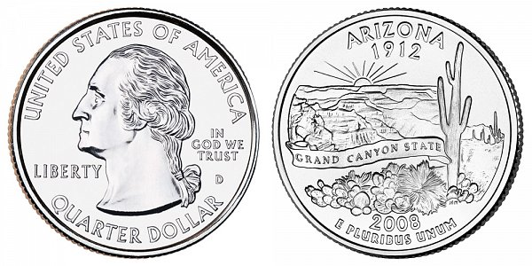 2008 D Arizona State Quarter